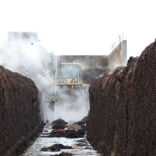 Mushroom compost process