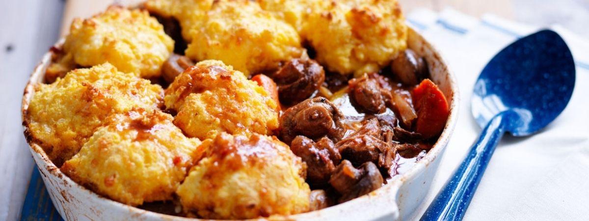 Braised Mushroom and Beef Casserole
