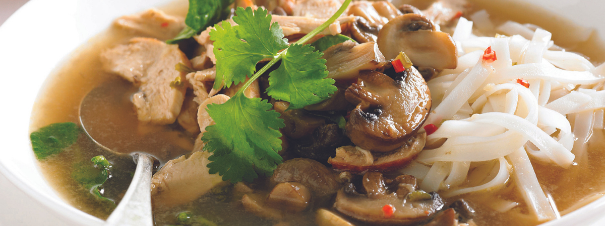 Mushroom and Chicken Noodle Soup recipe